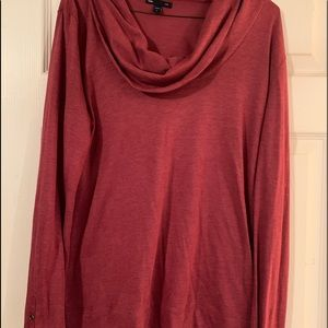 GAP maroon cowl neck sweater